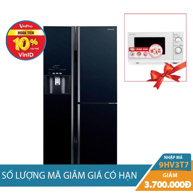 Tủ lạnh Hitachi R-M700GPGV2(GBK), 584 lít, Inverter  khuyến mại tháng 10