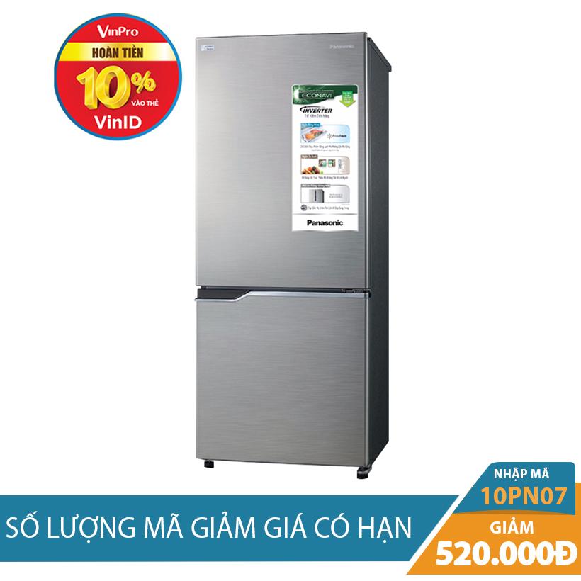 Giảm ngay 520K khi mua Tủ lạnh Panasonic NR-BV288QSVN, 255 lít, Inverter