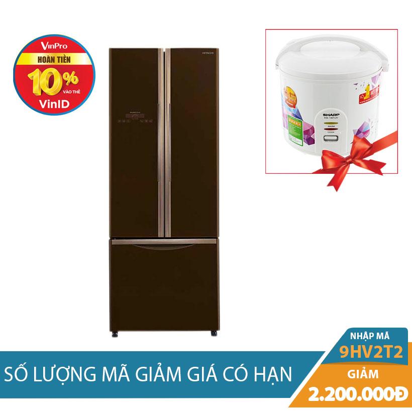 Tủ lạnh Hitachi R-WB545PGV2 (GBW), 455 lít, Inverter Khuyến Mãi Tháng 10