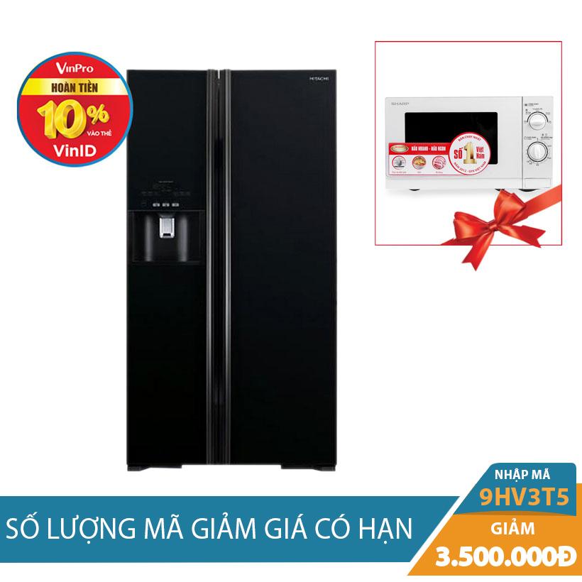Tủ lạnh Hitachi R-S700GPGV2(GBK), 589 lít, Inverter Khuyến Mãi Tháng 10