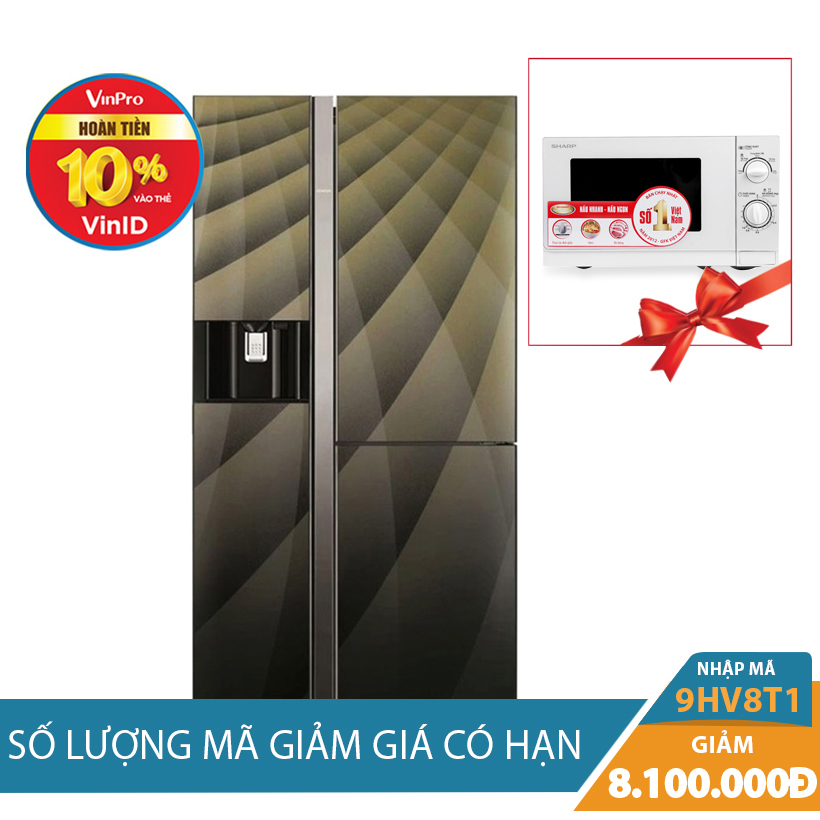 Tủ lạnh side by side Hitachi R-M700AGPGV4X(DIA), 584 lít, Inverter Khuyến Mại Tháng 10