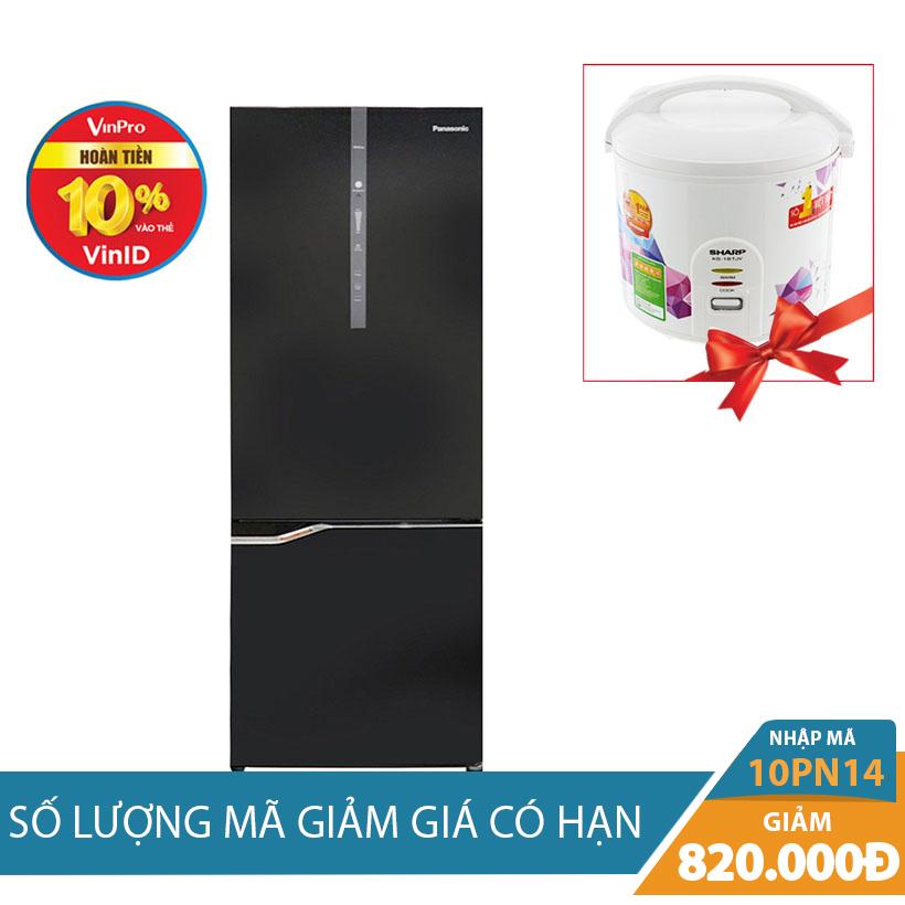 Tủ lạnh 2 cánh Panasonic NR-BV368GKVN, 322 lít, Inverter  Khuyến mãi hấp dẫn