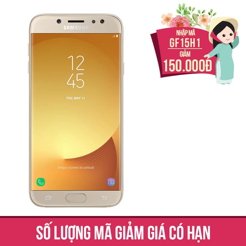Giảm ngay 150K khi mua Samsung Galaxy J7 Pro 2017 SM-J730 (Vàng)