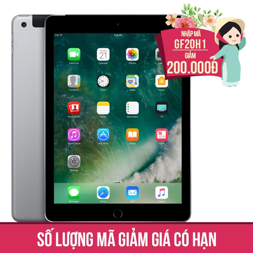 Giảm ngay 200K khi mua Apple iPad 9.7 (2017) Wifi 4G 32GB Xám