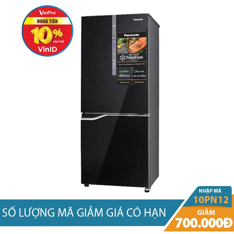 Giảm ngay 700K khi mua Tủ lạnh 2 cánh Panasonic NR-BV288GKVN, 255 lít, Inverter