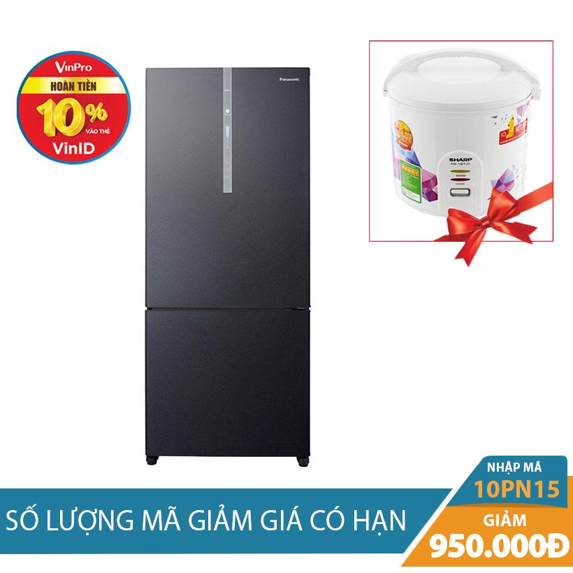 Tủ lạnh 2 cánh Panasonic NR-BX418GKVN, 363 lít Khuyến Mại Hấp Dẫn