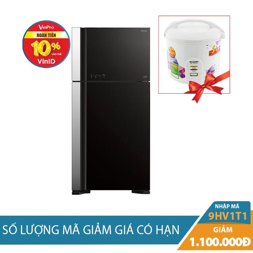 Tủ lạnh Hitachi R-VG540PGV3(GBK), 450 lít, Inverter - Giảm thêm 1.1 Triệu