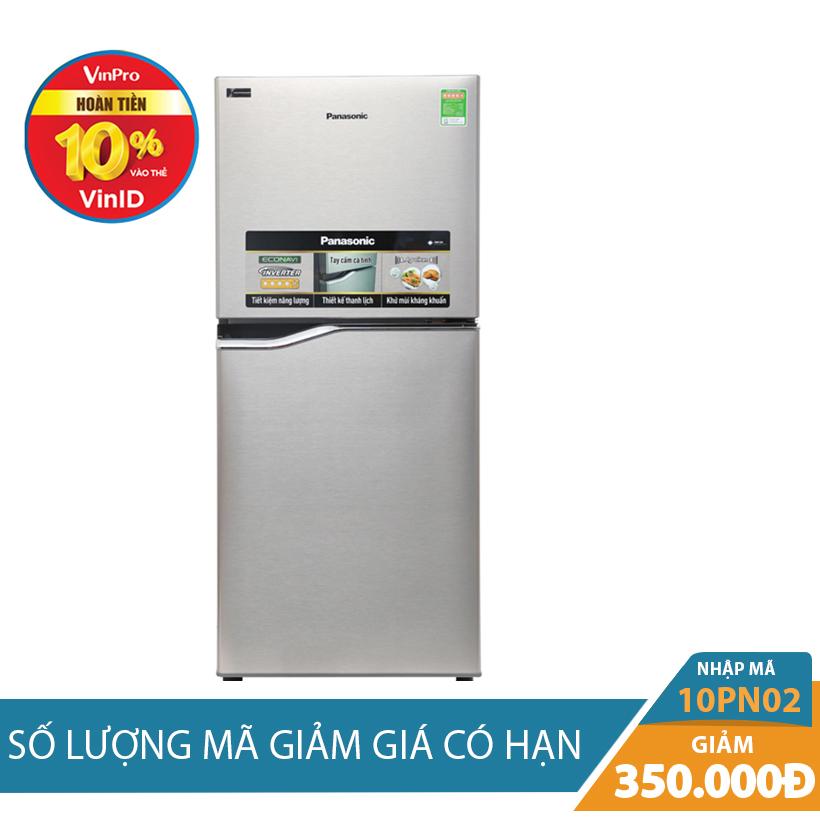 Giảm ngay 350K khi mua Tủ lạnh Panasonic NR-BA178PSV1, 152 lít