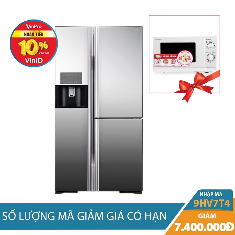 Tủ lạnh Hitachi R-M700GPGV2X(MIR), 584 lít, Inverter - Khuyến mại cực hấp dẫn
