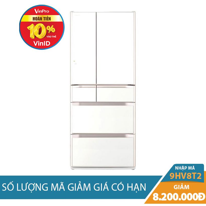 Giảm ngay 8Tr2 khi mua Tủ lạnh Hitachi E6200V(XW), 657L, Inverter
