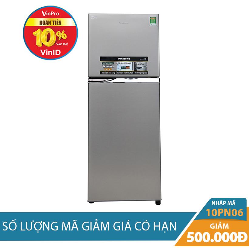 Giảm ngay 500K khi mua Tủ lạnh Panasonic NR-BL308PSVN 271 lít, Inverter