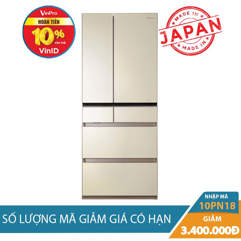 Giảm ngay 3Tr4 khi mua Tủ lạnh Panasonic NR-F610GT-N2, 588 lít, Inverter