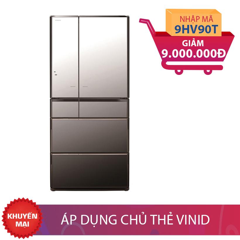 Tủ lạnh Hitachi R-E6800XV (X), 722 lít, Inverter giảm thêm 9 triệu đồng