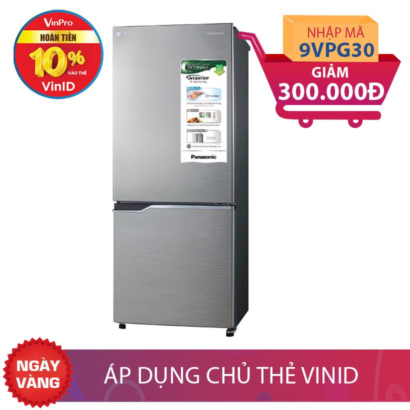 Tủ lạnh Panasonic NR-BV288QSVN, 255 lít, Inverter giảm thêm 300K