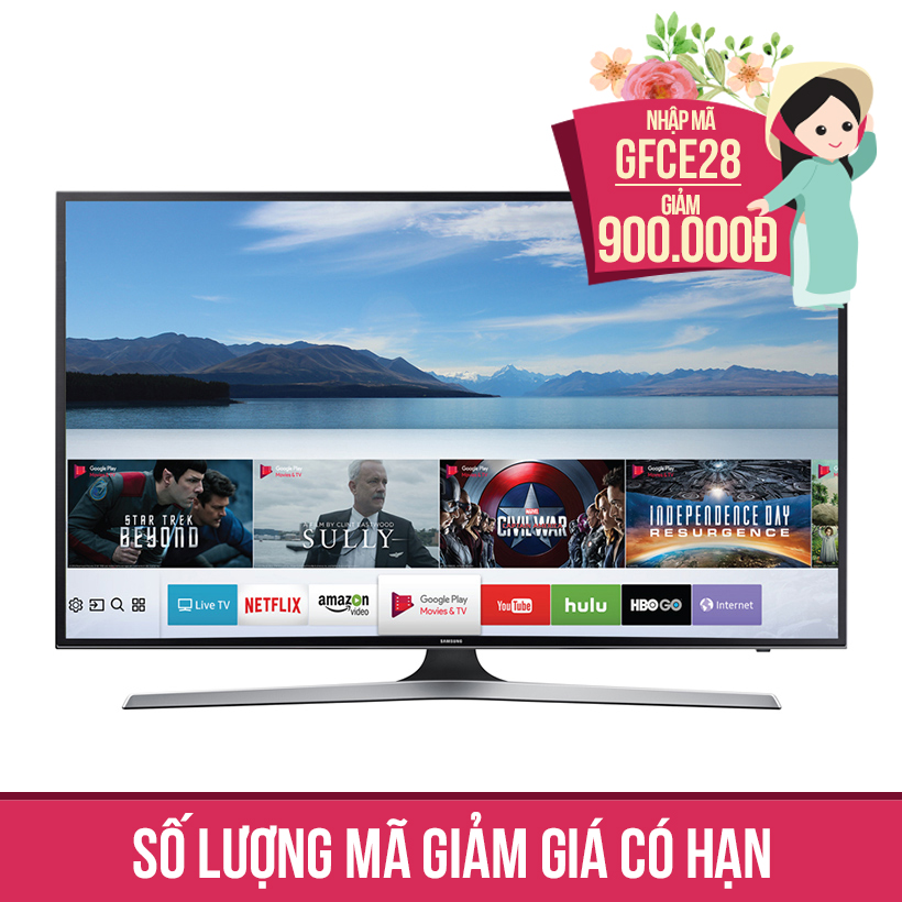 Giảm ngay 900K khi mua Smart Tivi Samsung 50 inch UA50MU6100 + Vali L&L Z-000169