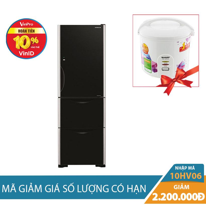 Tủ lạnh Hitachi R-SG38FPGV (GBK) 375L Inverter Khuyến Mại Hấp Dẫn Tháng 10