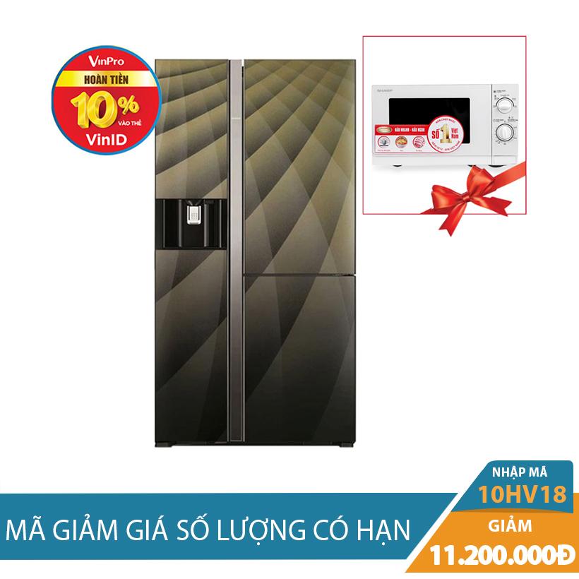 Tủ lạnh side by side Hitachi R-M700AGPGV4X(DIA), 584 lít, Inverter giảm sốc 11.2 Triệu