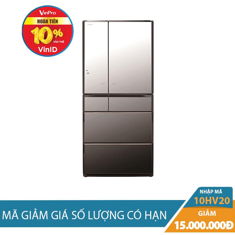 Giảm ngay 15Tr khi mua Tủ lạnh Hitachi R-E6800XV (X), 722 lít, Inverter