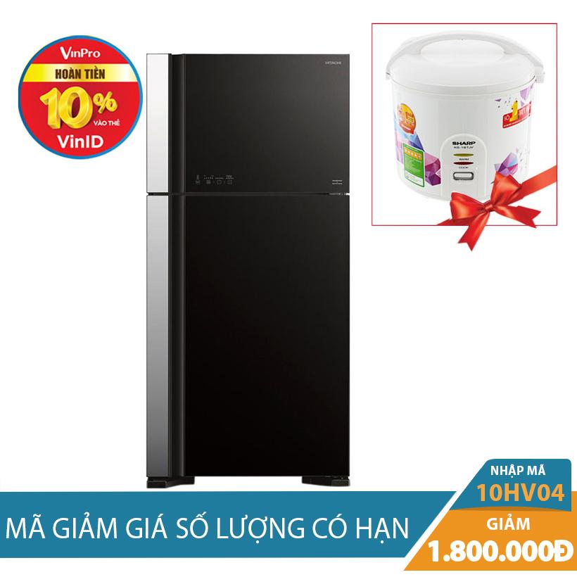 Tủ lạnh Hitachi R-VG540PGV3(GBK), 450 lít, Inverter giảm thêm 1.8 Triệu