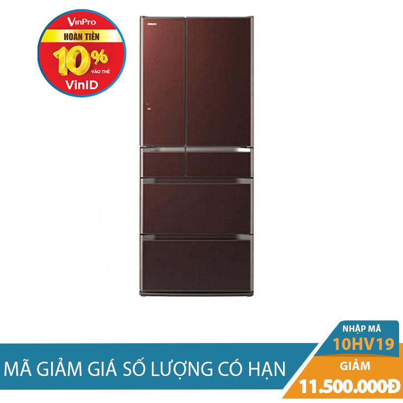 Giảm ngay 11.5Triệu khi mua Tủ lạnh Hitachi E6200V(XT), 657L