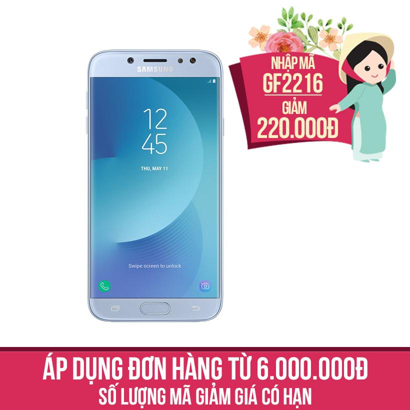 Giảm ngay 220K khi mua Samsung Galaxy J7 Pro 2017 SM-J730 32GB (Xanh ánh bạc)
