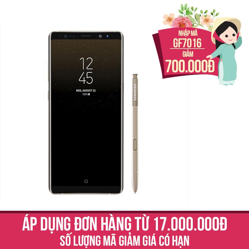 Giảm ngay 700K khi mua Samsung Galaxy Note 8 Vàng (Hàng chính hãng)
