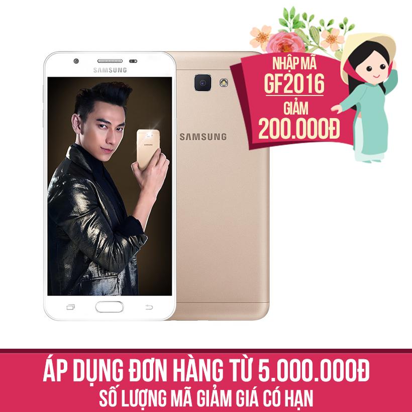 Giảm ngay 200K khi mua Samsung Galaxy J7 Prime 32GB Vàng (Hàng nhập khẩu)