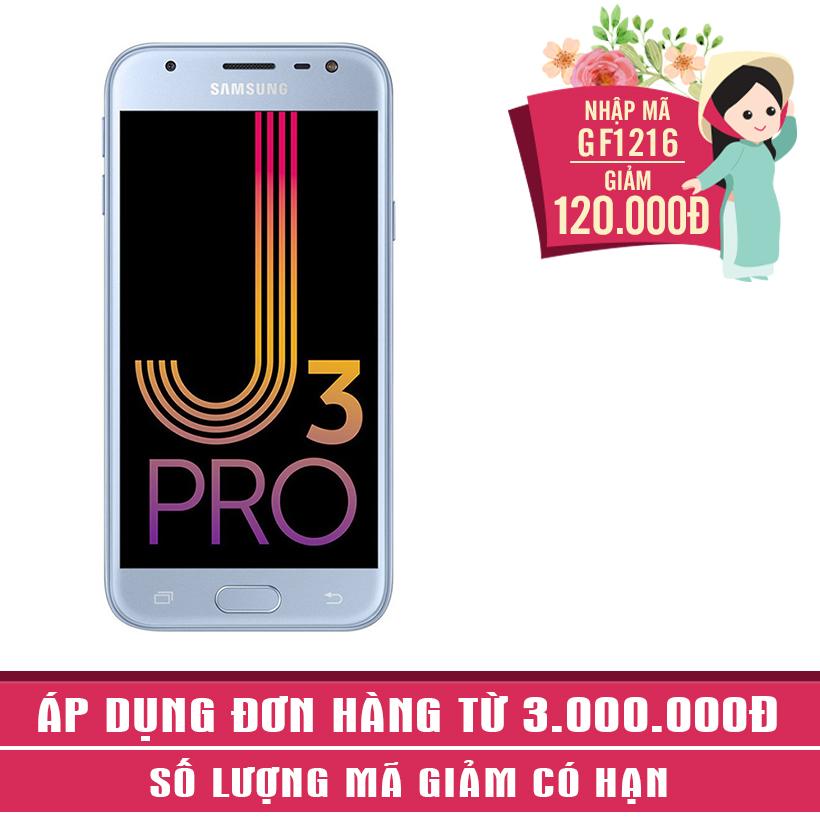 Giảm ngay 120K khi mua Samsung Galaxy J3 Pro (Xanh bạc)