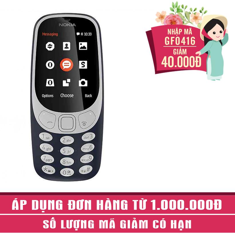 Giảm ngay 40K khi mua Nokia 3310 2017 Xanh Đen (Hàng Chính Hãng)