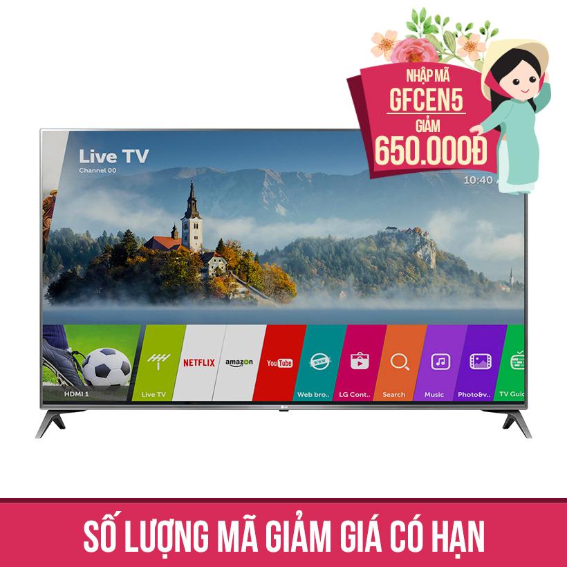 Giảm ngay 650K khi mua Smart TV 4K UHD 55 inch LG 55UJ652T