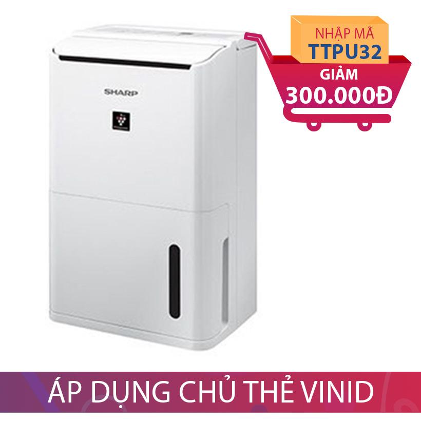 Giảm 300.000 khi mua máy lọc không khí và hút ẩm Sharp DW-D12A-W