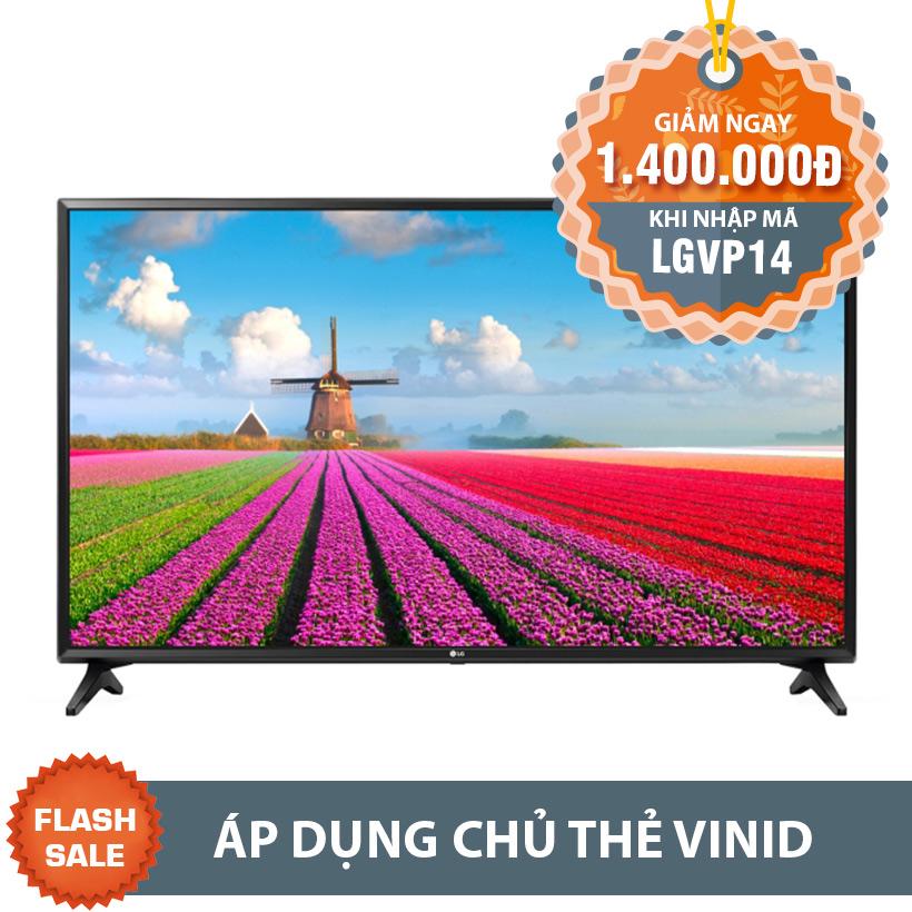 Giảm 1.100.000 khi mua Smart TV Full HD LG 43LJ550T