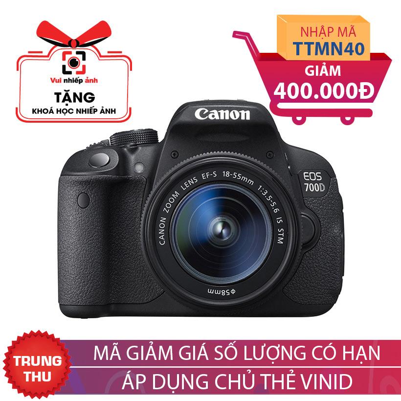 Máy ảnh SLR Canon EOS 700D Kit 18-55 - Khuyến mại hấp dẫn