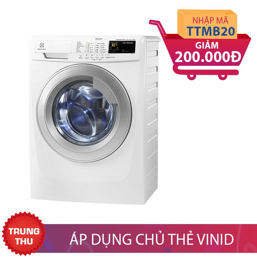Giảm ngay 200.000 khi mua Máy giặt lồng ngang Electrolux EWF10744, 7.5kg, Inverter