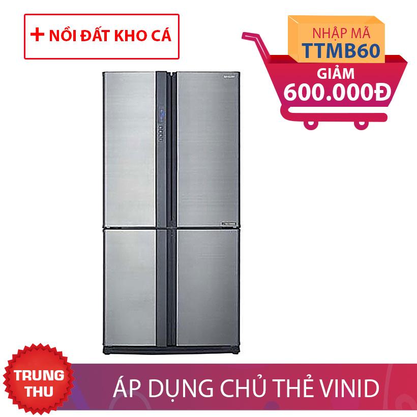 Tủ lạnh Sharp SJ-FX630V-ST, 626 lít, Inverter Khuyến Mại Tháng 9
