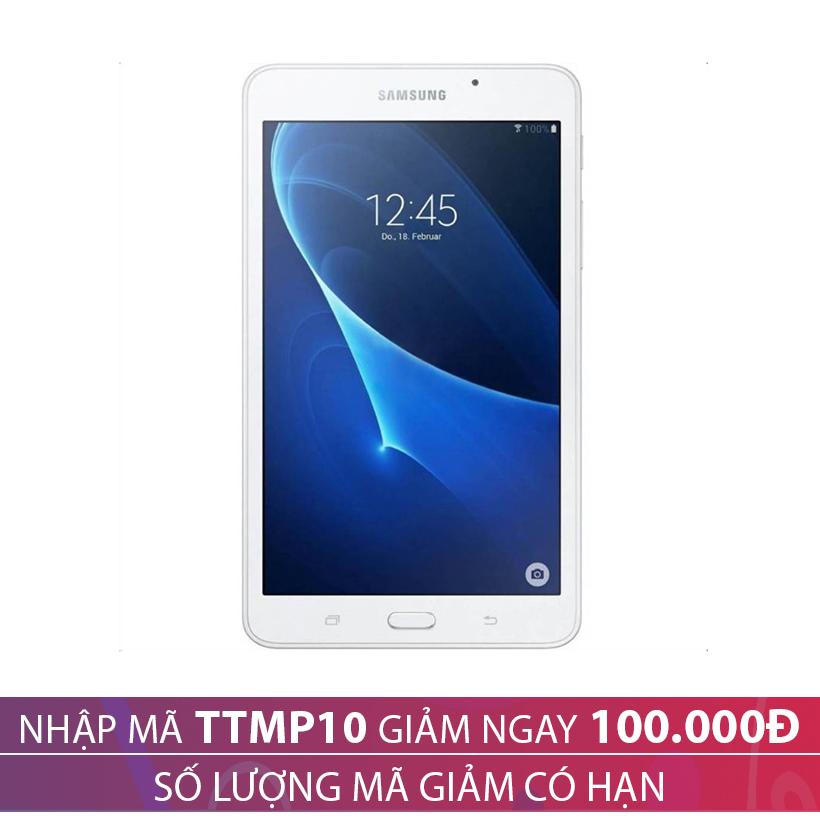 Giảm ngay 100.000 khi mua Samsung Galaxy Tab A 7.0 (T285) Wifi 4G 8GB Trắng (2016)