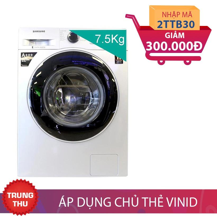 Giảm 300K khi mua Máy giặt lồng ngang Samsung 75J4233GS/SV, 7.5kg Inverter