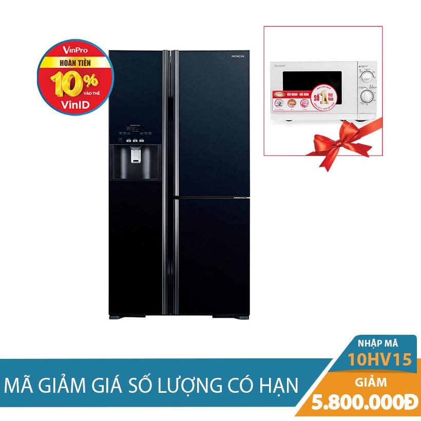Tủ lạnh Hitachi R-M700GPGV2(GBK), 584 lít, Inverter  Khuyến Mại Hấp Dẫn