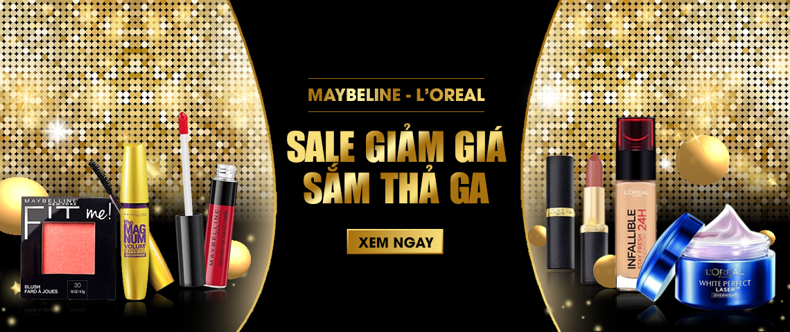MAYBELINE- LO'REAL SALE GIẢM GIÁ- SẮM THẢ GA