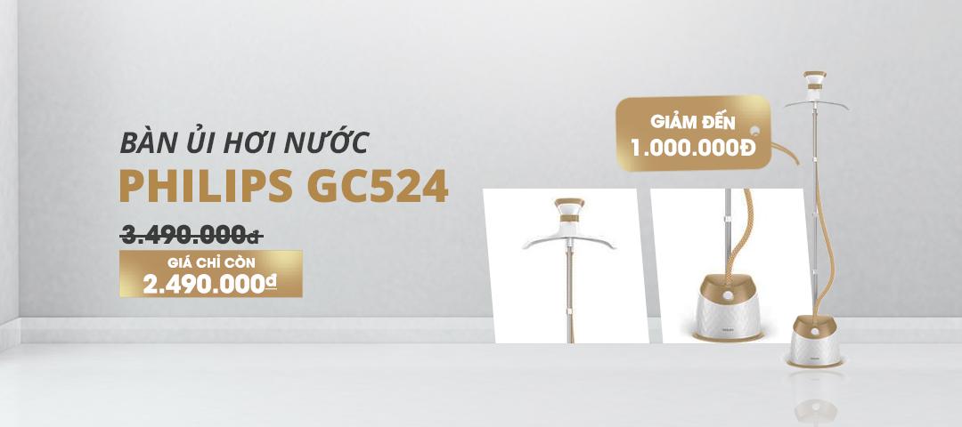 Bàn Ủi Hơi Nước Đứng Philips GC524 giá chỉ còn 2.490.000đ