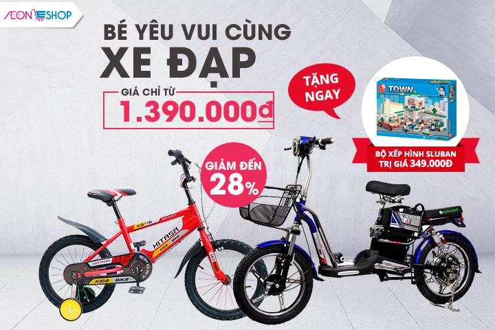 Bé vui cùng xe đạp - Qùa tặng: Bộ đồ chơi xếp hình Sluban trị giá 349.000Đ
