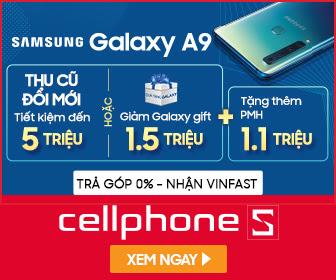 Giảm 1.5 triệu qua galaxy gift cho Samsung A9 + Tặng phiếu mua hàng 1.1 Triệu tại HN