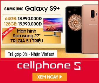 Giảm giá độc quyền S9+ Tặng thêm màn hình Samsung 27'' trị giá 5,1 Triệu