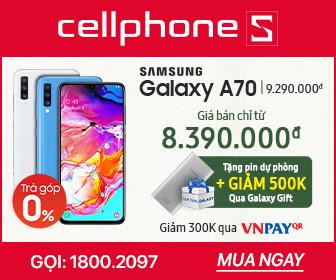 SAMSUNG GALAXY A70 Tặng PDP và giảm 500k Qua Galaxy Gift
