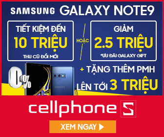 Thu cũ đổi mới Samsung Note 9 hoặc Galaxy Gift 2.5 triệu