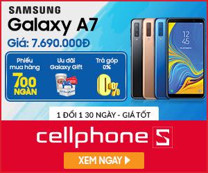 Samsung Galaxy A7 (2018) Chính hãng khuyến mại tại Hồ Chí Minh giá chỉ 7.690.000Đ