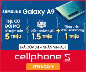 Giảm 1.5 triệu qua galaxy gift cho Samsung A9 + Tặng phiếu mua hàng 1 Triệu tại HCM