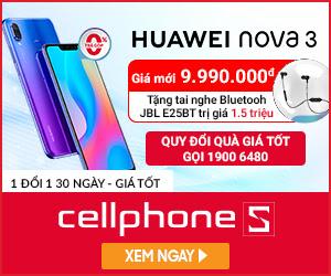 Giảm 2.000.000 khi mua Huawei Nova 3