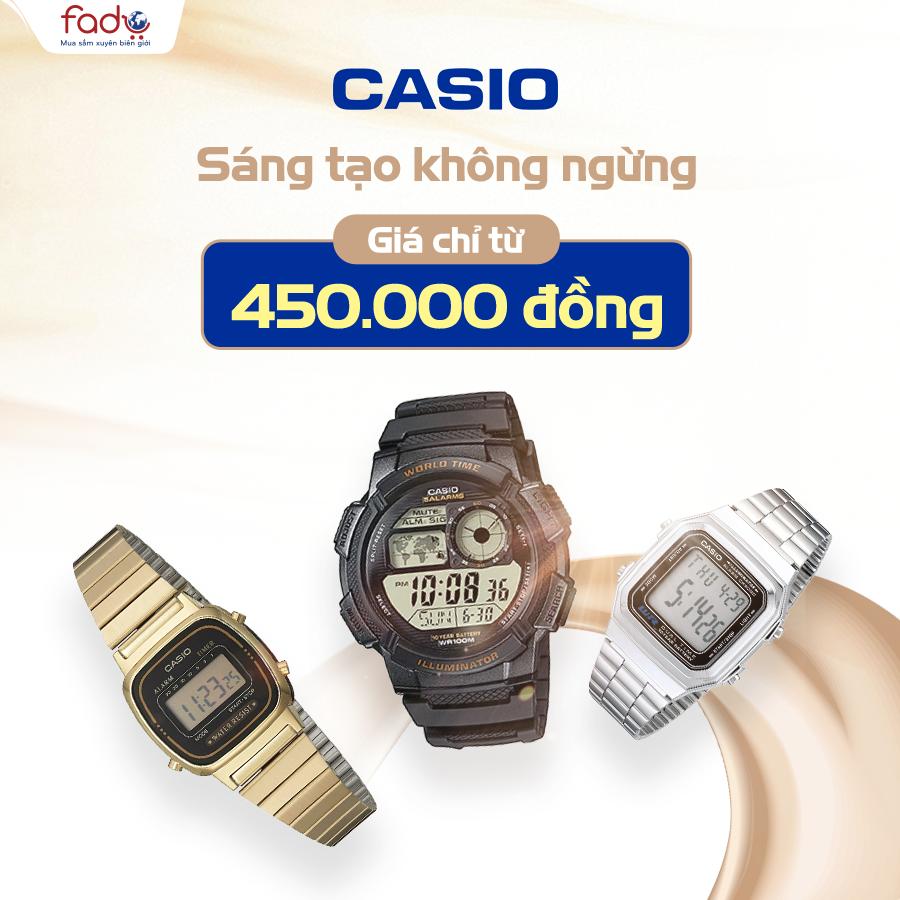 Đồng Hồ Casio - Giá chỉ từ 450,000đ