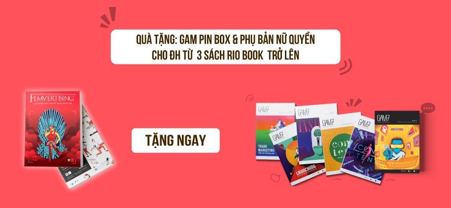 Quà tặng Gam pin box và Phụ bản nữ quyền cho đơn hàng từ 3 sách Rio book